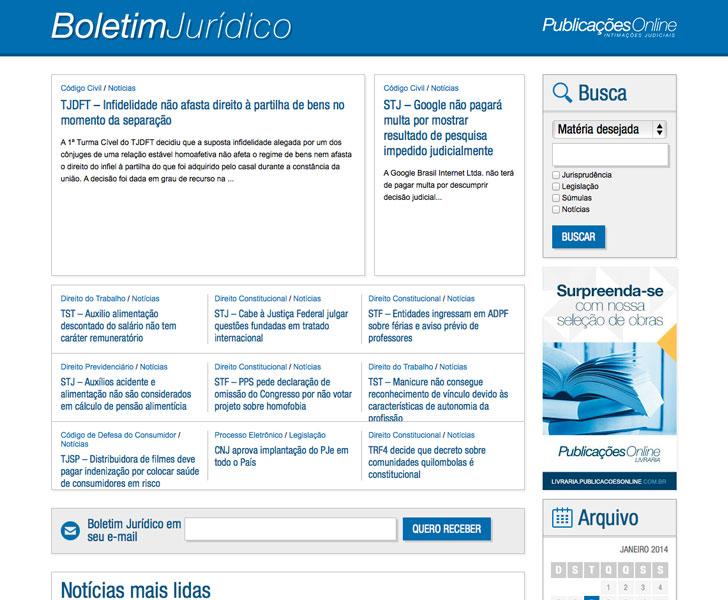 Site produzido pela Uébi - Boletim Jurídico