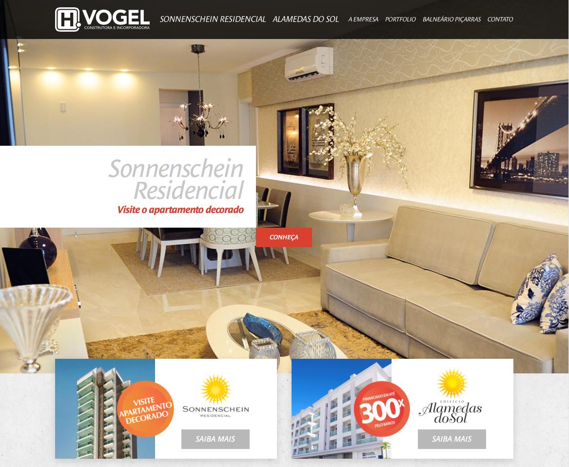 Site produzido pela Uébi - H. Vogel – Construtora & Incorporadora