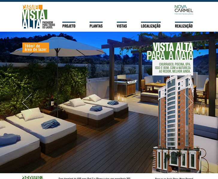 Site produzido pela Uébi - Hotsite Carmel Vista Alta