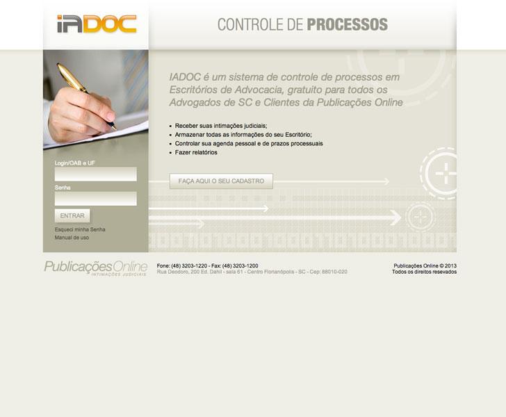 Site produzido pela Uébi - IADOC – Controle de processos