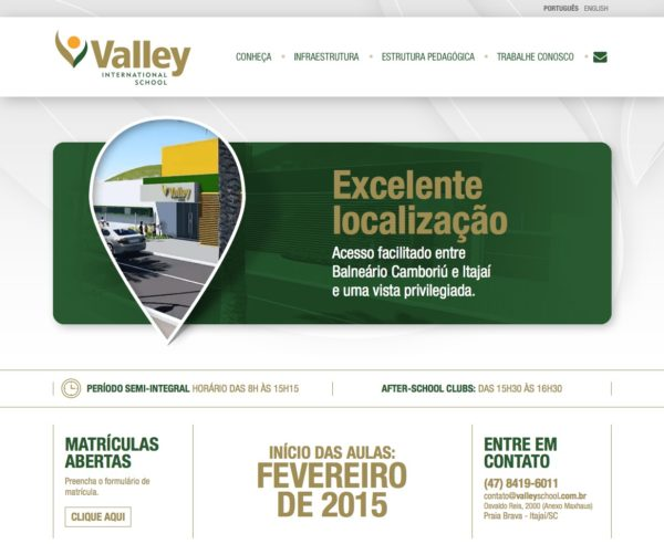 Site produzido pela Uébi - Valley International School